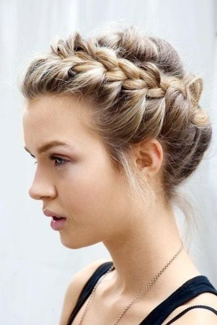 simple side braids for short hair