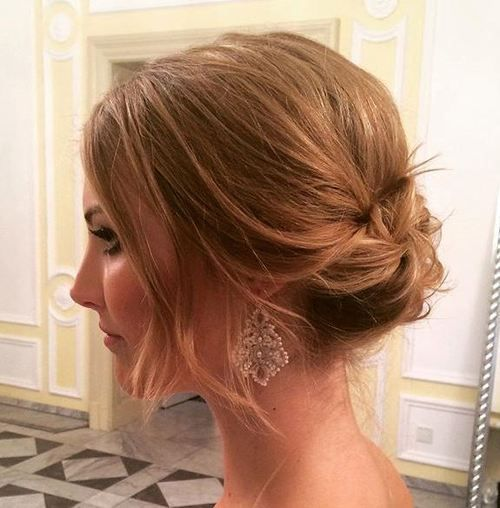 Adorable Wedding Hairstyles for Short Hair Low_Messy_2-1