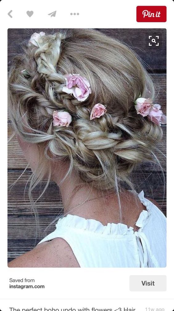 Adorable Wedding Hairstyles for Short Hair Messy_Crown_Braid_1