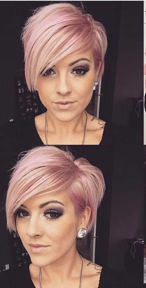 Best Styles of Short Haircuts for Thin Hair Pastel_Short_Hairstyles_1