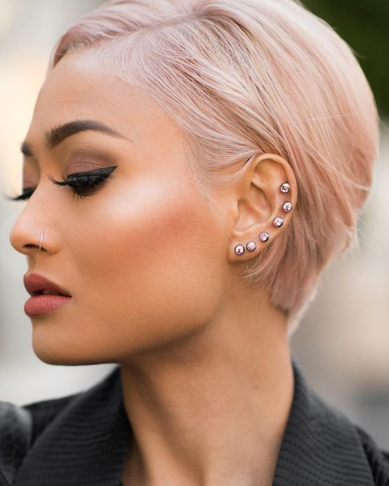 Best Styles of Short Haircuts for Thin Hair Pastel_Short_Hairstyles_2-1