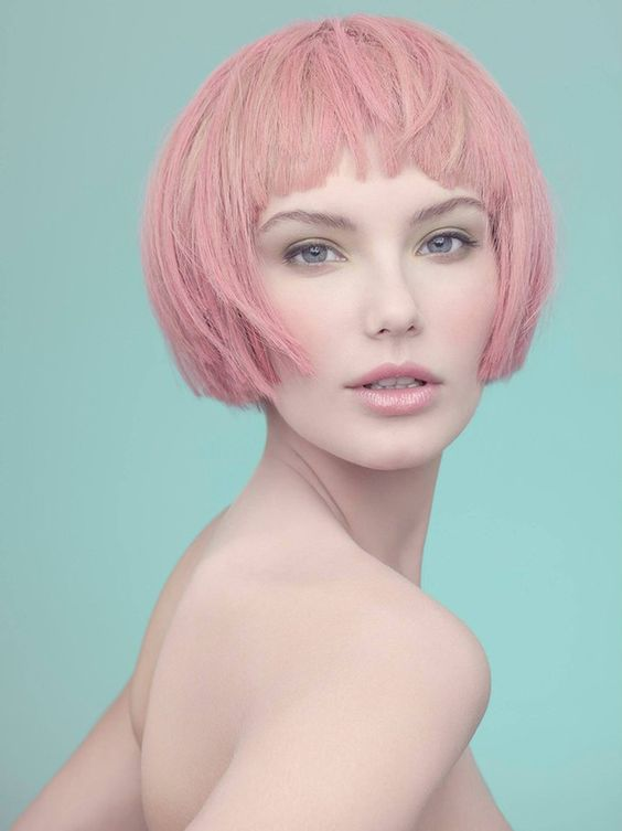 Best Styles of Short Haircuts for Thin Hair Pastel_Short_Hairstyles_5-1