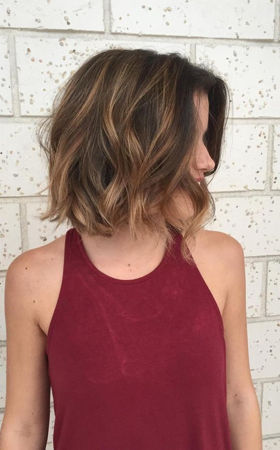Wavy Lob 5 Short Hairstyles 2018