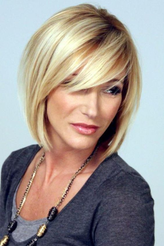 Trendy Inverted Bob Hairstyles longer_bob_cute_bang_4-1