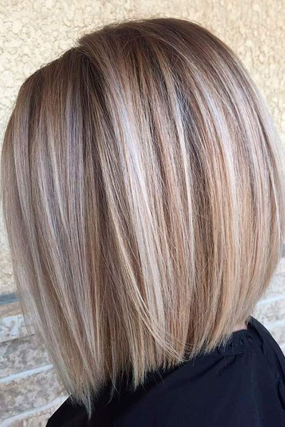 Fantastic Short Hair Style with hair color, brunette,light caramel,highlight Blonde and pastel