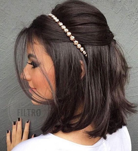 Fantastic Short Hair Style with Hair Accessories headband,headpiece