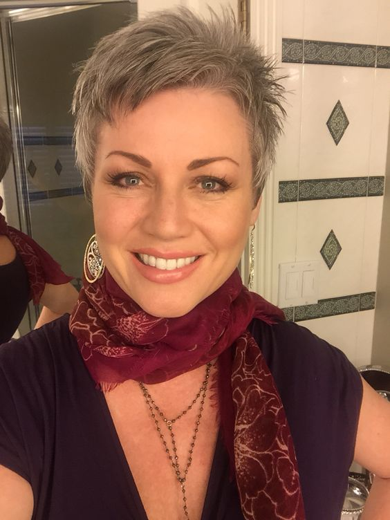 Hairstyles For Gray Hair Without Looking Old older_women_grey_short_hairstyles_6-1