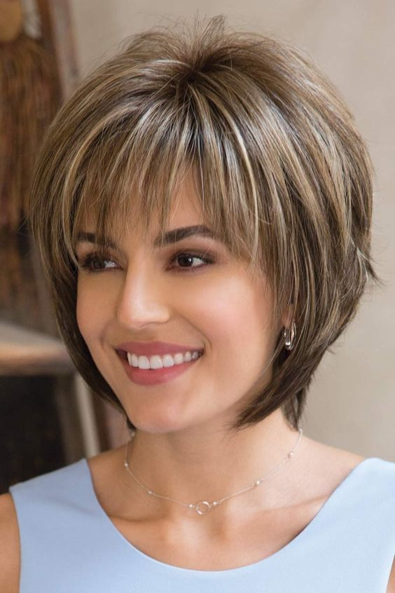 Bob with Bangs Women Over 50 Thin Hair