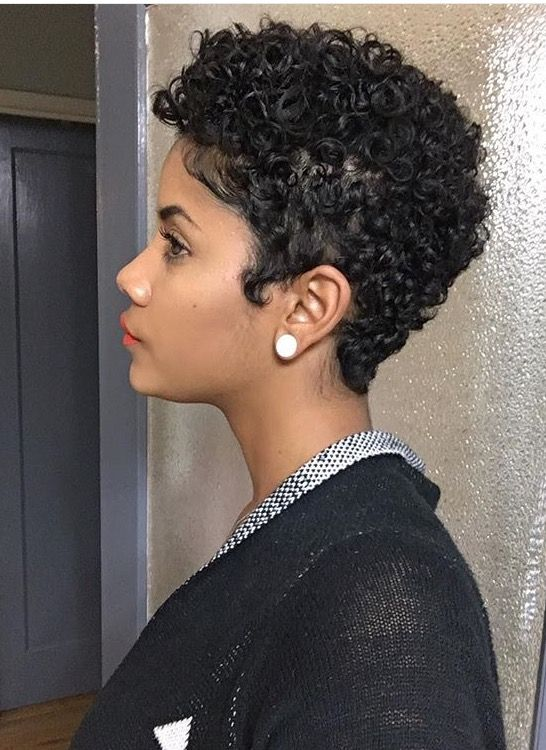 the best very short hairstyle for black women with curly hair