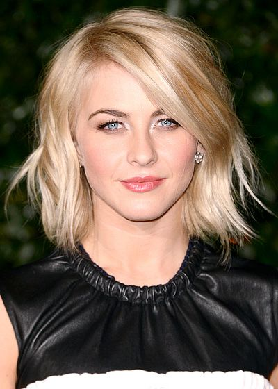 amazing blonde bob hairstyle with bangs and highlights
