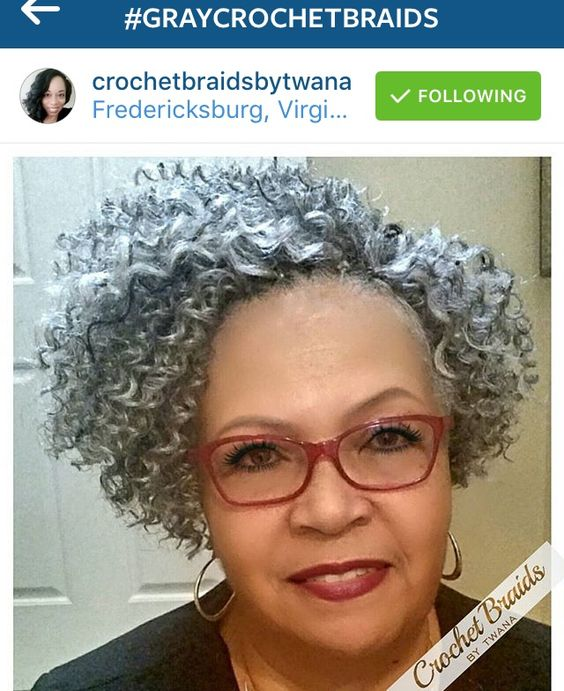 curly hairstyles with grey highlights for older women