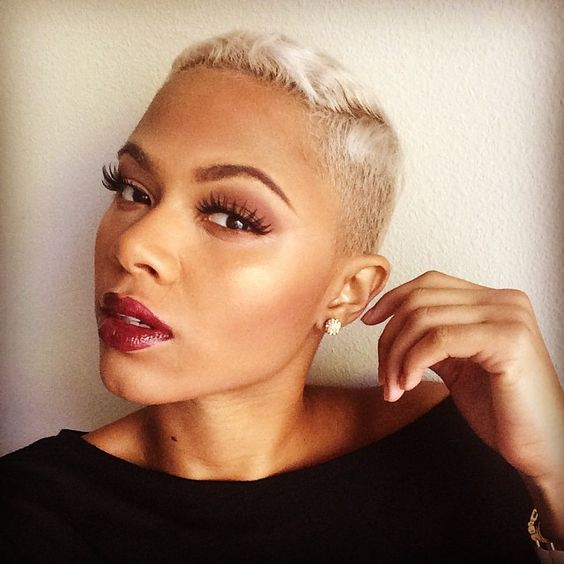 awesome very short hairstyle for black women with natural hair
