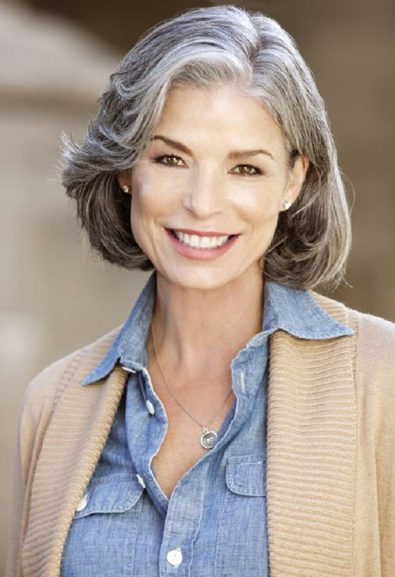 try this short hairstyles for over 60 women with gray hair