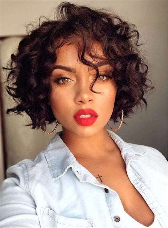 What are The Best Short Curly Bob Hairstyles for Black Women on Christmas Day? short-curly-bob-african-american-women-1