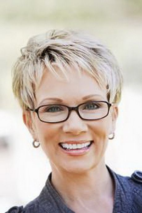 blonde hair older women with glasses look younger in 60s