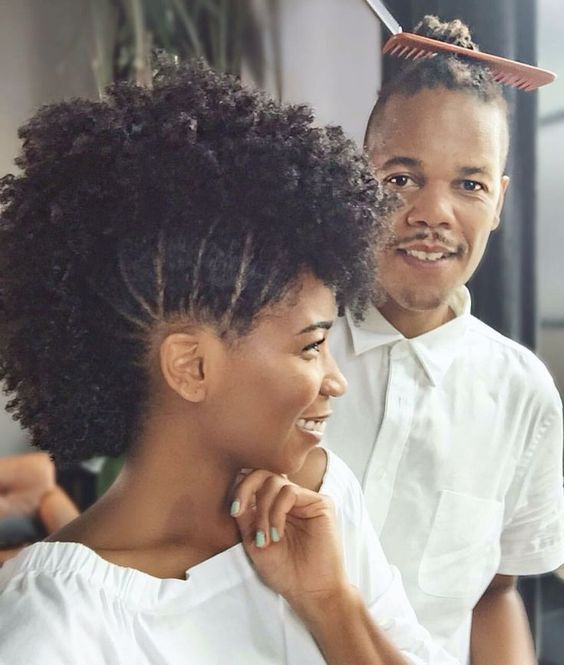 cool frohawk you can try with your natural hair