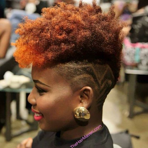 colored frohawk you can try in 2018