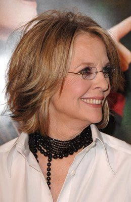 the best medium hairstyle for mature women with glasses