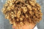 Simple Short Blonde Hairstyles for Round Faces in Winter Day natural_curly_caramel_highlights_6-150x100