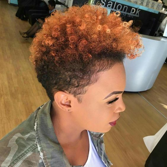 you can try mohawk on your natural curly hair