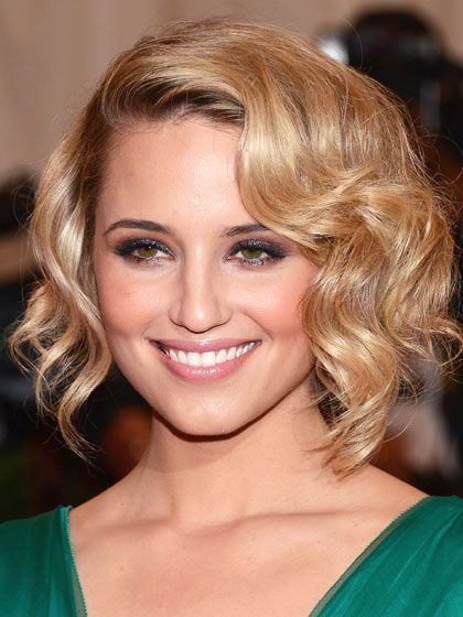 Asymmetrical Curly Classic Bob Hairstyles Short