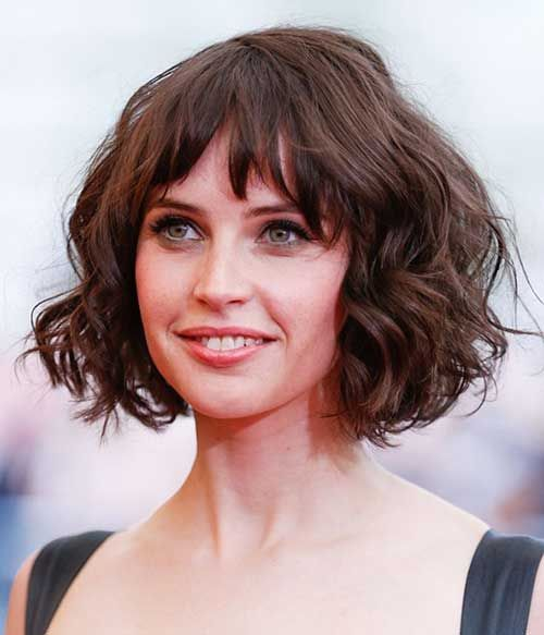 blonde bob with bangs for young women with round face