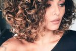 Highlighted Curly Hair Women 3