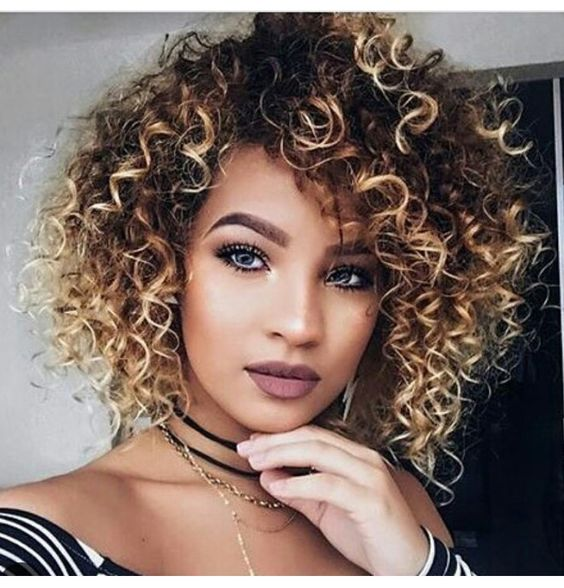 Highlightedcurlyhairwomen6 Short Hairstyles 2018