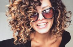 A Medium curly hairstyle that looks awesome in 2018
