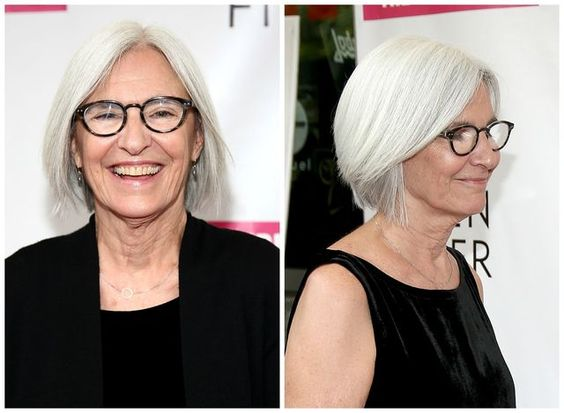 Beautiful-classic-bob-hairstyle-for-older-women-with-gray