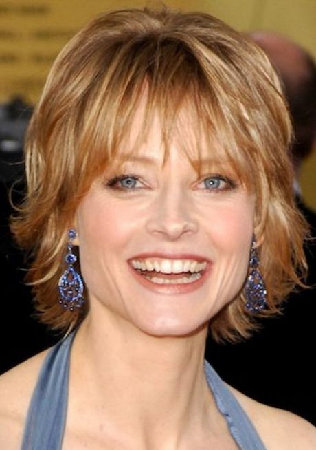beautiful layered haircut with bangs for women over 50