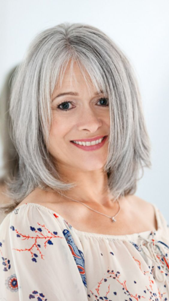 beautiful older women with unique bob hairstyle