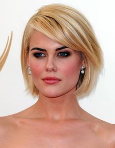 Short Bob with Bangs Hairstyles to Make You Look Cool and Classy classic-bob-haircut-with-side-bangs
