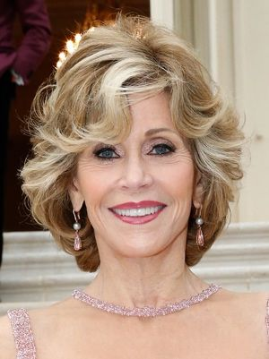 Curly Hairstyle With Bangs For Women Over 50 Short
