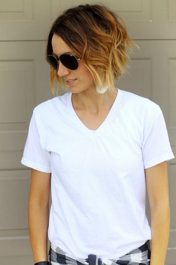 Short Bob with Bangs Hairstyles to Make You Look Cool and Classy inverted-short-bob-style-with-ombre-for-women-with-oval-face