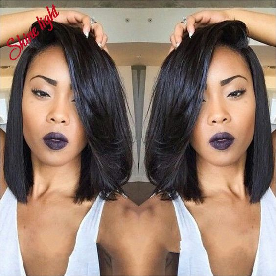 long bob hairstyle for african american women