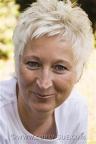 pale blond short short haircut for women over 50