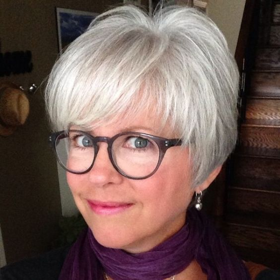 pixie hairstyle with bangs for women over 50