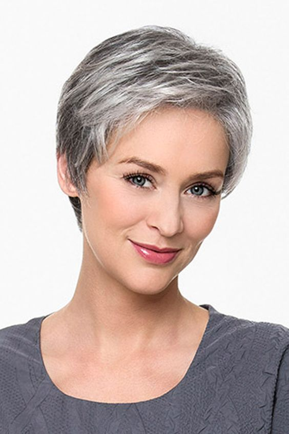Very Short Hairstyle For Older Women With Thick Hair