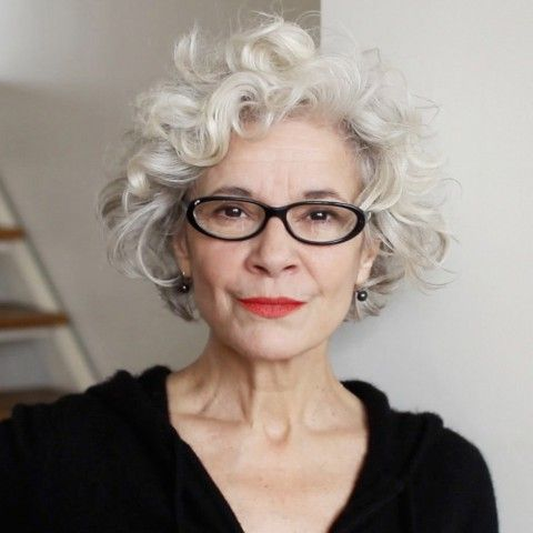Most Ideal Short Hairstyles for Women over 60 with Glasses beautiful-looking-over-60-women-with-curly-hair-and-glasses
