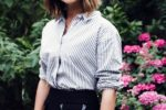 Cute Medium A Line Bob Hairstyle For Young Women With Thick Hair