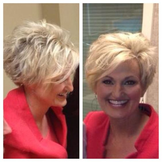messy layered wedge haircut for women over 60