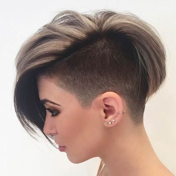 Very Boyish Cut For Women Who Loves Unique Style Short