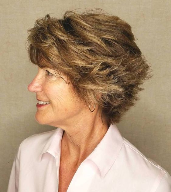 54 Short Choppy Hairstyles for Women over 60 to Look Younger beautiful-angled-layered-pixie-haircut-for-older-women