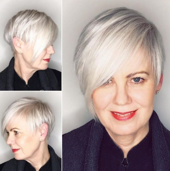 54 Short Choppy Hairstyles for Women over 60 to Look Younger beautiful-teased-choppy-hairstyle-for-over-60-women