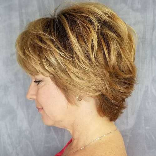charming look choppy haircut for older women