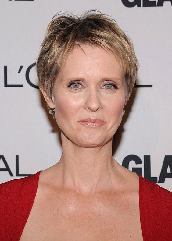 cute choppy short haircut that makes any older women look younger