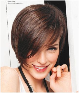 cute looking soft a line bob haircut with layers