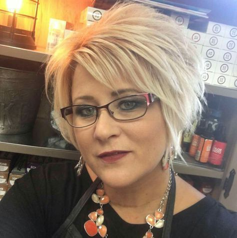 modern look choppy haircut for older women with thick hair