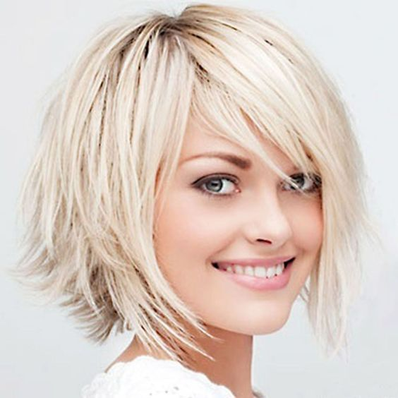 short layered pageboy haircut for women